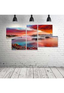 Quadro Decorativo - Artistic-River - Composto De 5 Quadros - Multicolorido - Dafiti