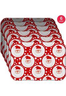 Jogo Americano Love Decor Wevans Papai Noel Kit Com 6 Pçs