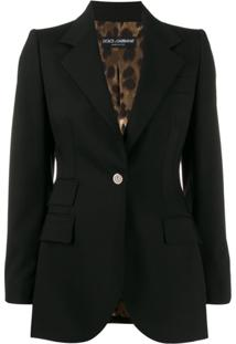 Dolce & Gabbana Tailored Button Blazer - Preto