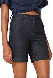 Bermuda Jeans Cantão Lívia Azul-Marinho