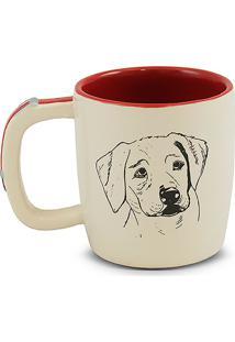 Caneca Pet-Labrador 350Ml -Mondoceram - Creme