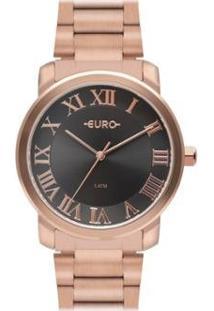 Relógio Euro Roman Basic Feminino - Feminino-Rose Gold