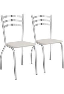 Jogo De 2 Cadeiras Portugal Cromada De Metal C007 Kappesberg