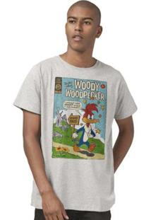 Camiseta Bandup! Pica-Pau Hq - Masculino-Mescla