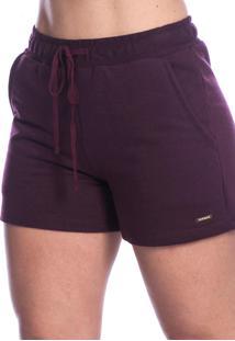 Shorts Long Island De Basic Bordô
