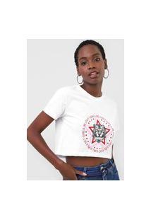Camiseta Cropped Planet Girls Tigre Branca