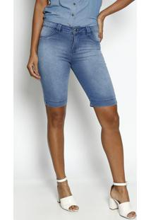Bermuda Jeans Estonada- Azul- Dress Todayênfase