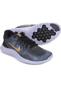 Tênis Nike Wmns Flex 2018 Rn Feminino - Feminino-Preto+Dourado