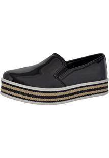 Tênis Slip On Ousy Shoes Sapatênis Preto