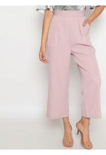 Calça Pantalona Com Pregas- Rosa Claro- Pacifc Bluepacific Blue