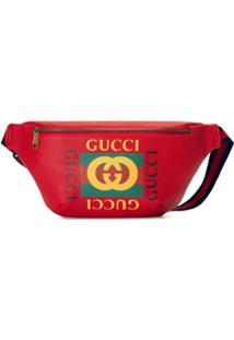Gucci Pochete De Couro Com Logo - Vermelho