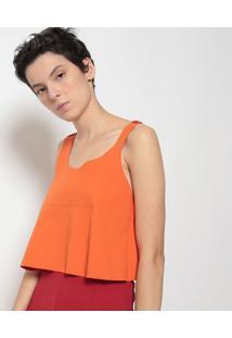Blusa Lisa Dupla Face-Vermelha & Laranjaosklen