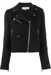 Michael Michael Kors Zipped Biker Jacket - Preto