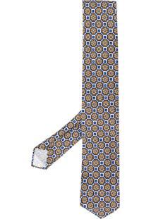 Lardini Gravata Com Estampa Geométrica - Azul