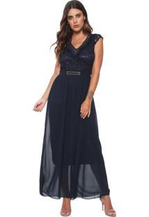 88c80b667 Vestido Azul Marinho Renda feminino | Shoelover