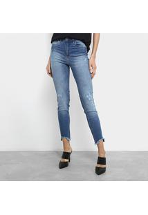 8abf48625 Zattini. Calça Jeans Skinny Cropped Colcci Cintura Média Feminina ...