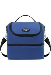 Bolsa Térmica Gg- Azul Preta- 28X27X22,5Cm- Jajacki Design
