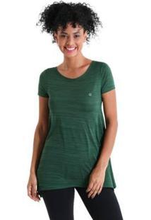 Camiseta Líquido Evasê Levíssima Feminina - Feminino-Verde