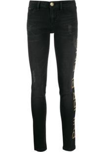 Philipp Plein Calça Jeans Skinny - Preto