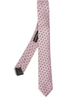 Emporio Armani Gravata De Seda Estampada - Rosa