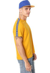 Camiseta Ride Skateboard Faixa Amarela