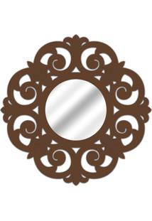 Espelho De Parede 14880I Marrom 70X70 Art Shop