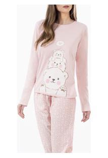 Pijama Longo Ursinhos Laibel (15.011463) 100% Algodão
