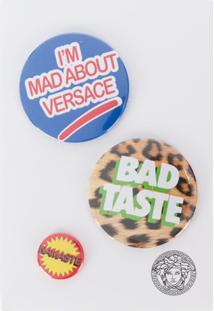 Versace Mixed Print Logo Pins - Azul