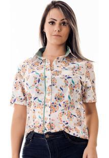 Camisa Pimenta Rosada Adri Floral