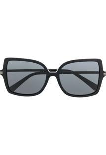 Valentino Eyewear Óculos De Sol Quadrado Rockstud - Preto