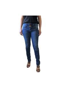 Calça Macaw Jeans Lycra Mona Azul