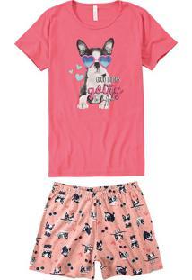 Pijama Curto Com Lenço Feminino Malwee Liberta