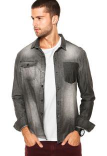 Camisa Calvin Klein Jeans Estonada Preta