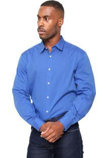 Camisa Perry Ellis Lisa Azul