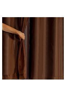 Cortina Blackout Pvc Com Tecido Voil 2,80 M X 1,80 M Tabaco