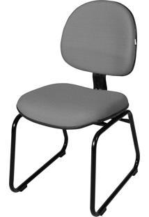 Cadeira Executiva Base Trapã©Zio S/ Braã§O Cinza - Cinza - Dafiti