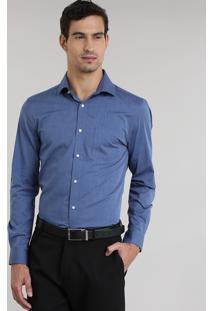 Camisa Comfort Azul
