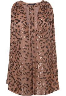 Regata Rosa Chá Leopard Estampado Feminina (Leopard Print, P)