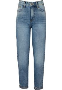 Calca Giovanna Straight Barra Dobrada (Jeans Claro, 46)