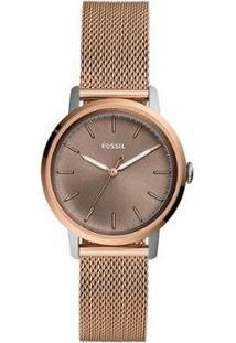 Relógio Fossil Neely Rosé Feminino - Feminino-Rose Gold