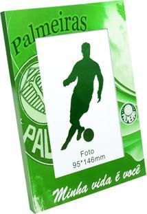 Porta Retrato Minas De Presentes De Alumínio Para 1 Foto 10X15Cm - Palmeiras Verde - Kanui