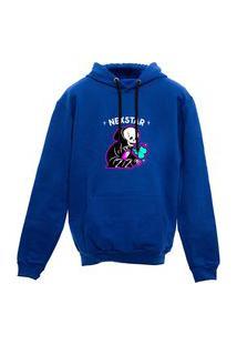 Blusa De Frio Moletom Caveira Nexstar Desenho - Azul