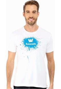 Camiseta Manga Curta Relaxado Caranguejo 1 Branca