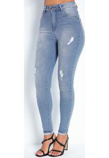 Calça Jeans Clara Cigarrete Cinta 360º Sawary
