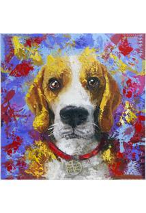 Quadro Kasa Ideia Canvas Colorido Beagle 60Cm