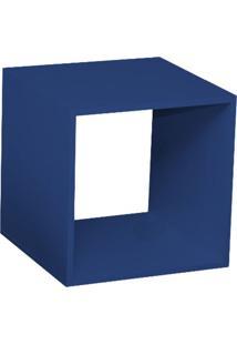 Nicho Quadrado Criado Mudo Azul L 40 X P 40 X A 40