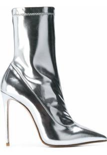 Le Silla Ankle Boot Eva Com Efeito Espelhado - Prateado