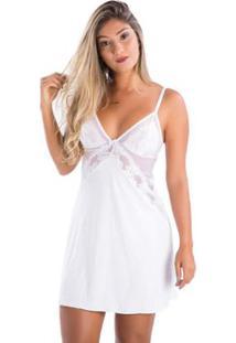 7e568702c ... Camisola Liganete Tule Sem Bojo Feminina - Feminino-Branco