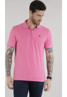 Polo Em Piquet Pink