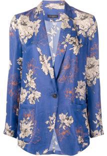 Antonelli Blazer Com Estampa Floral - Roxo